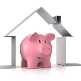 Sparschwein mit Symbolhaus 1